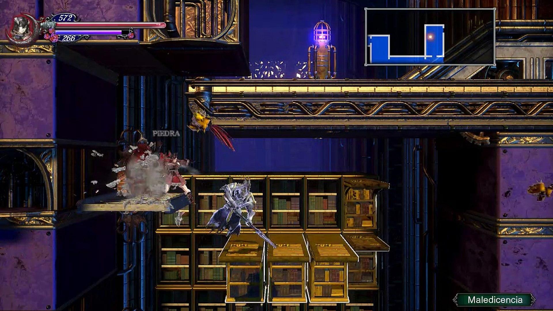 Bloodstained ROTN,Gameplay Español 5, La vampiresa de la sombrilla y  el Dragon oscuro