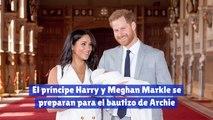 El príncipe Harry y Meghan Markle se preparan para el bautizo de Archie