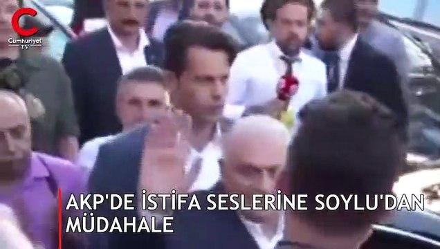 AKP önünde istifa sesleri... Soylu müdahale etti