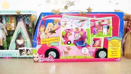 Barbie Doll Pop Up Camper Camping Day! Puppe Wohnmobil Campeur poupée Barbie باربي سيارة التخييم | Karla D.