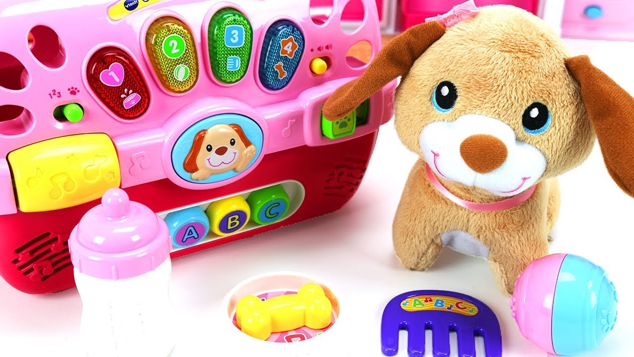 VTech Care for Me Learning Carrier – Fun Dog Toy for Kids Ages 9-36 months