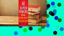 [BEST SELLING]  AI Superpowers: China, Silicon Valley, and the New World Order