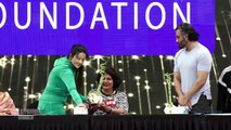 Maharashtra CM Wife Amruta Fadanvis And Sunil Shetty At Yoga Day