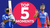 Shami? Kohli? - India vs Afghanistan - Top 5 Moments - ICC Cricket World Cup 2019