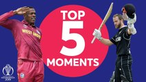Brathwaite? Williamson? - West Indies vs New Zealand - Top 5 Moments - ICC Cricket World Cup 2019