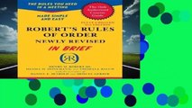 [BEST SELLING]  Robert s Rules of Order Newly Revised In Brief, 2nd edition (Roberts Rules of