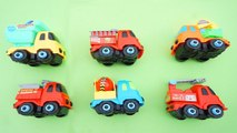 Cars Toy for Kids,Truck Toys Learning Name Fire Truck,Dump Truck,Excavator,Cement Mixer Truck