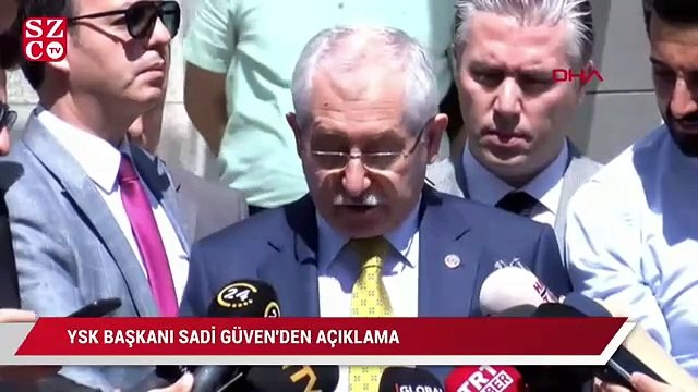 YSK Başkanı resmi olmayan kesin sonuçları açıkladı