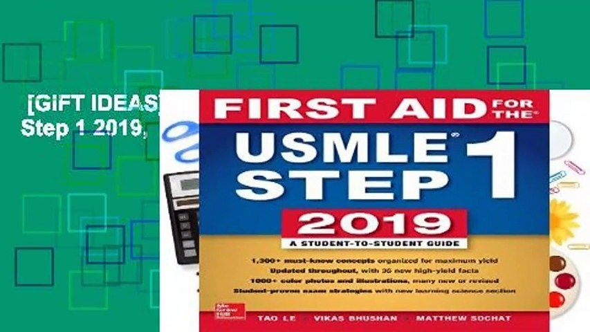 GIFT IDEAS] First Aid for the USMLE Step 1 2019, Twenty-ninth