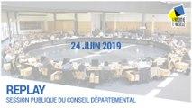 Session du conseil départemental du 24/06/2019