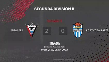 Resumen partido entre Mirandés y Atlético Baleares Jornada 3 Segunda B - Play Offs Ascenso