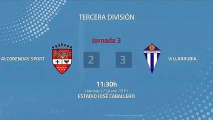 Resumen partido entre Alcobendas Sport y Villarrubia Jornada 3 Tercera División - Play Offs Ascenso