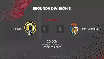 Resumen partido entre Hércules y Ponferradina Jornada 3 Segunda B - Play Offs Ascenso