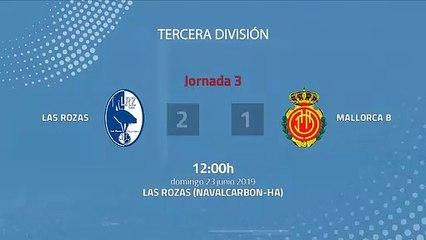 Resumen partido entre Las Rozas y Mallorca B Jornada 3 Tercera División - Play Offs Ascenso