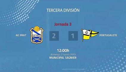 Resumen partido entre AE Prat y Portugalete Jornada 3 Tercera División - Play Offs Ascenso