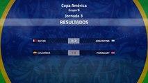 Resumen de la Jornada 3 Copa América Grupo B
