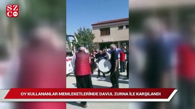 İstanbul'da oy kullananlar memleketlerinde davul zurna ile karşılandı