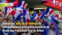 Coupe du monde féminine : nouveau carton d'audience pour les Bleues