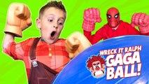 Wreck it Ralph 2 GAGA BALL Family Battle - KIDCITY