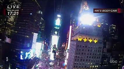 Daredevil siblings cross Times Square highwire
