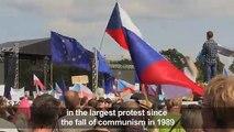 Czechs demand PM quit in largest protest since communism