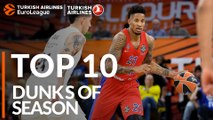 2018-19 Turkish Airlines EuroLeague: Top 10 Dunks!