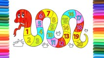 Learn Numbers For Children Education Toy Constructor Colouring Pages Video For Kids