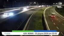 TERREMOTO ROMA - IL VIDEO SULL'A24 - SCOSSA DI 3.7 (COLONNA EPICENTRO)