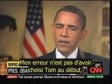 "Barack Obama : ""j'ai foiré"" (""I screwed up"" VOSTF)"