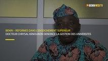 Bénin : le Docteur Chrysal Kenoukon dénonce la gestion des universités