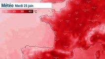 VIDÉO - Canicule : les températures prévues matin, midi, après-midi, soir et nuit de mardi à samedi