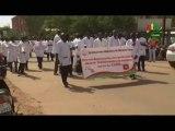 RTB/Santé - Marche des membres du corps médical du Burkina Faso qui exige la satisfaction de leur plateforme revendicative
