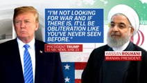 """Trump set to impose new Iran sanctions, warns of """"obliteration"""" if war erupts"""