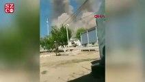 Silah deposundaki patlamalar asker kamerasında