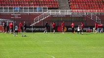 Copa America quarter-finalists Peru train in Sao Paulo