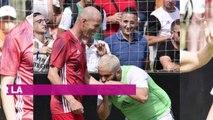 PHOTOS. Zinedine Zidane sur un terrain de foot pour son annive...