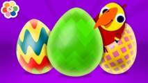 Surprise Eggs Animals Toys - Learn Vocabulary - Animal Sounds with Larry - New Episode - BabyFirst