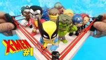 X-Men Shake Rumble -1 vs Avengers Toys - HULK   Superheroes Mystery Minis Unboxing