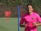 Los azulgranas Adriano y Rafinha se incorporan a los entrenamientos al margen de sus compañeros