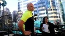 Nik and Lijana Wallenda Cross High-Wire 25 Stories Above Times Square | THR News
