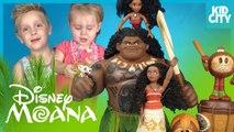 Disney Moana Movie Toys Unboxing with Mystery Minis - Moana Dolls by KIDCITY