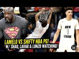 LaMelo Ball GOES AT SHIFTY Former NBA POINT GUARD at The Drew w/ Shaq - Lonzo Watching---