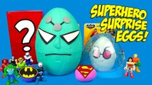 Superhero Kinder Play-Doh Surprise Egg with Justice League Toys - Batman Toys Unboxing - KID CITY