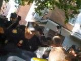 Un desalojo termina con seis detenidos y varios heridos