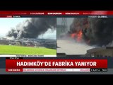 Hadımköy'de 3 Katlı Fabrikada Yangın Çıktı Haber Global Ekibi Olay Yerinden Bildirdi
