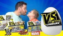 VS Rip-Spin Warriors - Superhero Surprise Egg Unboxing ft Spiderman Toys - WWE Toys - KIDCITY