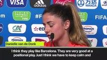 (Subtitled) 'Japan play like Barcelona' - Netherlands midfielder Van de Donk