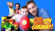 Justice League Toys Superhero Play-Doh Surprise Egg and Toy Opening Giveaway Contest by KidCity