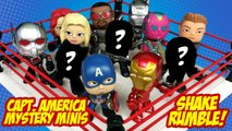 Captain America Civil War Movie Toys SHAKE RUMBLE and Avengers Toys Mystery Mini Unboxing by KidCity