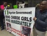 Protestas en EEUU para pedir la liberación de las niñas nigerianas secuestradas